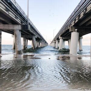 The Chesapeake bay bridge.
